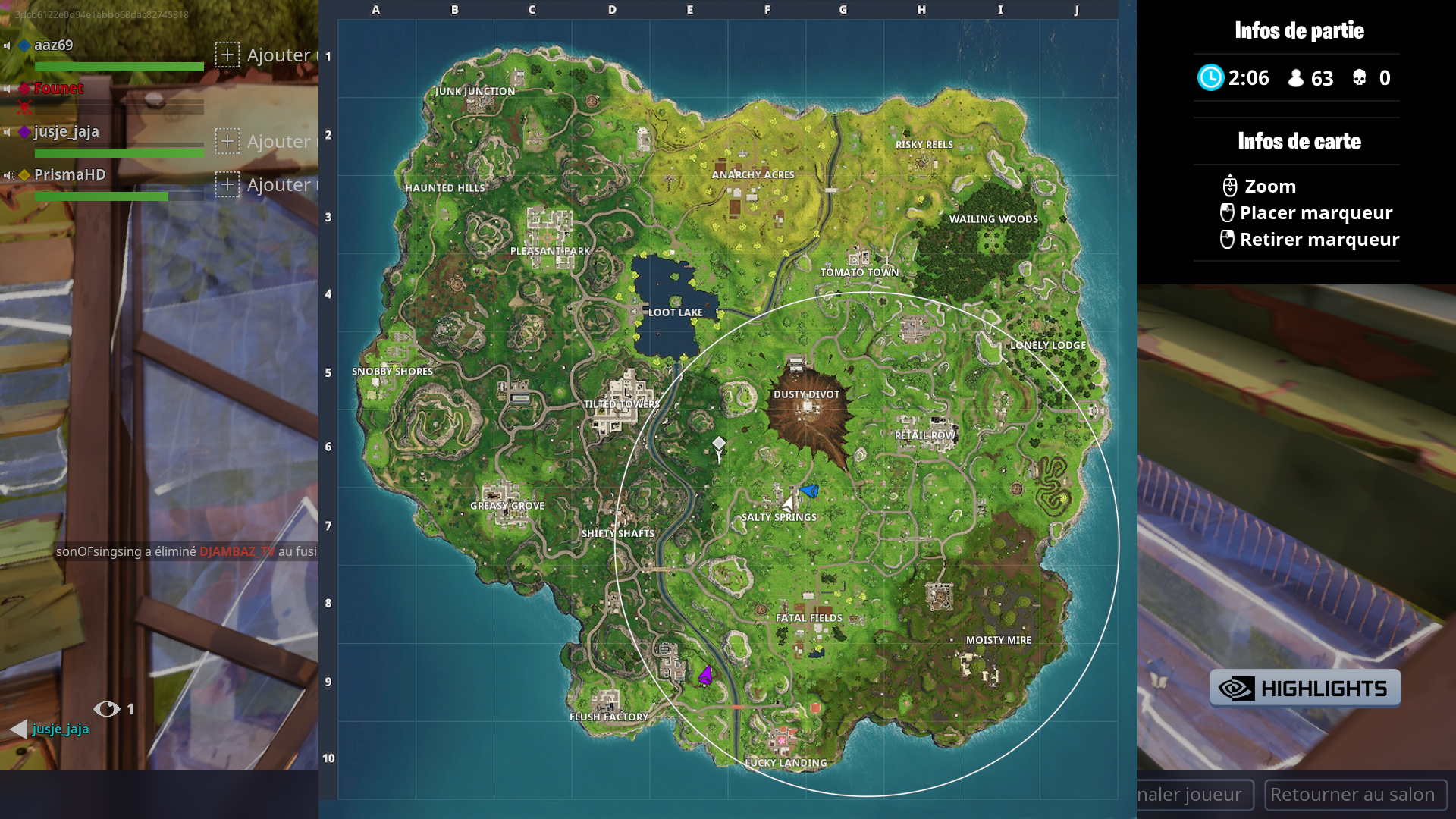 Fortnite Carte